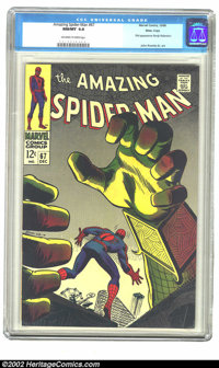 The Amazing Spider-Man #67 Massachusetts pedigree (Marvel, 1968) CGC NM/MT 9.8 Off-white to white pages. When Steve Ditk...