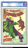 Silver Age (1956-1969):Superhero, The Amazing Spider-Man #66 Pacific Coast pedigree (Marvel, 1968) CGC NM/MT 9.8 Off-white to white pages. Mysterio is one of ...