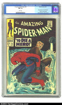 The Amazing Spider-Man #52 (Marvel, 1967) CGC NM 9.4 White pages. J. Jonah Jameson is tied to Spider-Man, our hero is pa...
