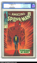 Silver Age (1956-1969):Superhero, The Amazing Spider-Man #50 (Marvel, 1967) CGC NM 9.4 Off-white towhite pages. The first appearance of the ever-powerful and...