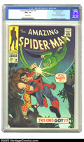 Silver Age (1956-1969):Superhero, The Amazing Spider-Man #49 Northland pedigree (Marvel, 1967) CGCNM+ 9.6 Off-white pages. It seems that the odds for our her...