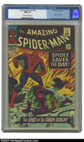 Silver Age (1956-1969):Superhero, The Amazing Spider-Man #40 (Marvel, 1966) CGC NM+ 9.6 Off-white towhite pages. John Romita created a classic Spidey vs. the...