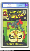 Silver Age (1956-1969):Superhero, The Amazing Spider-Man #35 (Marvel, 1966) CGC NM+ 9.6 Off-whitepages. We are tempted to paste a description from one of the...