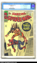 Silver Age (1956-1969):Superhero, The Amazing Spider-Man #34 (Marvel, 1966) CGC NM+ 9.6 Off-white towhite pages. Kraven returns in this extremely high-grade ...