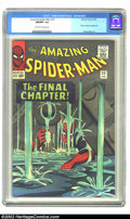 Silver Age (1956-1969):Superhero, The Amazing Spider-Man #33 (Marvel, 1966) CGC NM/MT 9.8 Off-white to white pages. This issue, the end of the great Spider-Ma...