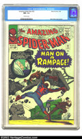 Silver Age (1956-1969):Superhero, The Amazing Spider-Man #32 (Marvel, 1966) CGC NM+ 9.6 Off-white pages. Spidey goes on a rampage as he tries to battle the cr...