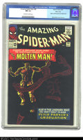 Silver Age (1956-1969):Superhero, The Amazing Spider-Man #28 Massachusetts pedigree (Marvel, 1965)CGC NM 9.4 Off-white to white pages. Molten Man introduces ...