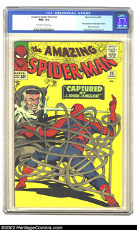 The Amazing Spider-Man #25 (Marvel, 1965) CGC NM+ 9.6 Off-white to white pages. Talk about the power of the press, J. Jo...