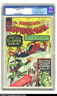 The Amazing Spider-Man #14 Northland pedigree (Marvel, 1964) CGC NM+ 9.6 White pages. Written by Stan Lee and drawn by S...