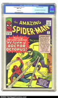 Silver Age (1956-1969):Superhero, The Amazing Spider-Man #11 Massachusetts pedigree (Marvel, 1964) CGC NM+ 9.6 Off-white pages. The ophthalmologically-impaire...