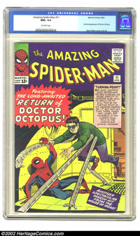 The Amazing Spider-Man #11 Massachusetts pedigree (Marvel, 1964) CGC NM+ 9.6 Off-white pages. The ophthalmologically-imp...