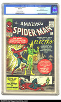 Silver Age (1956-1969):Superhero, The Amazing Spider-Man #9 (Marvel, 1964) CGC NM 9.4 Off-white towhite pages. Electro appears and reveals his origin to the ...