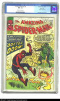 Silver Age (1956-1969):Superhero, The Amazing Spider-Man #5 Massachusetts pedigree (Marvel, 1963) CGC NM+ 9.6 Off-white to white pages. Steve Ditko draws his ...