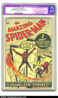 Silver Age (1956-1969):Superhero, The Amazing Spider-Man #1 (Marvel, 1963) CGC Apparent FN 6.0 Slight (A) Cream to off-white pages. Awfully nice-looking copy ...