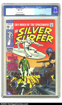 The Silver Surfer #10 (Marvel, 1969) CGC NM- 9.2 Off-white to white pages. John Buscema may be better known for his work...