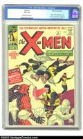 Silver Age (1956-1969):Superhero, X-Men #1 (Marvel, 1963) CGC VF+ 8.5 Off-white to white pages. Theorigin and first appearance of the X-Men by Jack Kirby con...