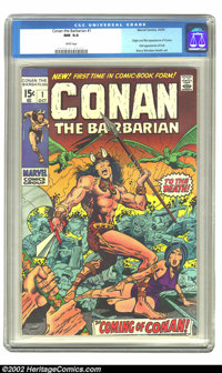 Conan The Barbarian #1 (Marvel, 1970) CGC NM 9.4 White pages. Conan must have caught comic book collectors by surprise i...