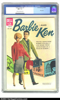 Barbie and Ken #2 (Dell, 1962) CGC NM+ 9.6 Cream to off-white pages. Here is an incredibly beautiful comic that can be c...
