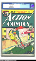 Golden Age (1938-1955):Superhero, Action Comics #29 (DC, 1940) CGC FN+ 6.5 Off-white to white pages. Early issues of Action featuring Superman on the cove...