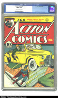 Golden Age (1938-1955):Superhero, Action Comics #30 (DC, 1940) CGC FN/VF 7.0 Cream to off-white pages. The colors on this copy are nothing short of sensationa...