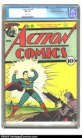 Golden Age (1938-1955):Superhero, Action Comics #35 Mile High pedigree (DC, 1941) CGC NM- 9.2 White pages. Another monumental item from the historical collect...