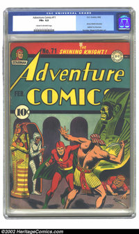 Adventure Comics #71 (DC, 1942) CGC FN+ 6.5 Cream to off-white pages. To demonstrate how rare it is to find high-grade c...