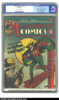 All-American Comics #16 (DC, 1940) CGC VG- 3.5 Cream to off-white pages. This first appearance of Green Lantern is one o...