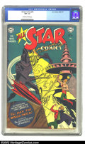 Golden Age (1938-1955):Superhero, All-Star Comics #56 (DC, 1950) CGC NM 9.4 Off-white to white pages. Here is the second-to-last, extremely rare issue, in ext...