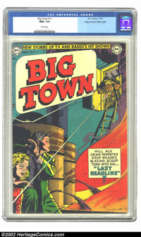 Big Town #11 Mile High pedigree (DC, 1951) CGC NM+ 9.6 White pages. It is difficult to image a '50s comic looking any be...