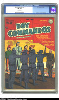 Golden Age (1938-1955):War, Boy Commandos #29 (DC, 1948) CGC NM 9.4 Off-white pages. The Boy Commandos face certain death at the hands of the Storm Troo...