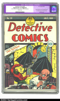 Golden Age (1938-1955):Superhero, Detective Comics #29 (DC, 1939) CGC Apparent VF 8.0 Slight (P) Off-white pages. Two issues after Batman makes his historical...