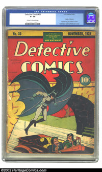 Detective Comics #33 (DC, 1939) CGC GD- 1.8 Cream to off-white pages. The first-told origin of The Batman is bound withi...