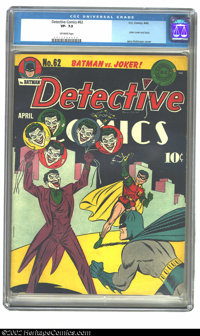 Detective Comics #62 (DC, 1942) CGC VF- 7.5 Off-white pages. It's Batman and Robin versus the Joker on this classic cove...