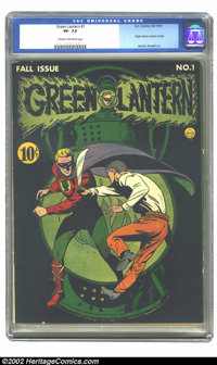 Green Lantern #1 (DC, 1941) CGC VF- 7.5 Cream to off-white pages. Howard Purcell's cover of this premier issue is one of...