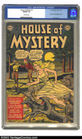 Golden Age (1938-1955):Horror, House of Mystery #1 (DC, 1952) CGC VG/FN 5.0 Off-white pages. Thisfirst horror comic published by DC is one that does not s...