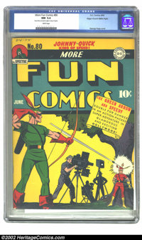 More Fun Comics #80 Mile High pedigree (DC, 1942) CGC NM 9.4 White pages. Are you surprised that this is by far the nice...
