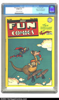 Golden Age (1938-1955):Humor, More Fun Comics #125 Mile High pedigree (DC, 1947) CGC VF/NM 9.0 Off-white to white pages . What a great cover by the incomp...