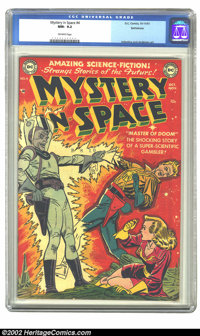 Mystery in Space #4 Bethlehem pedigree (DC, 1951) CGC NM- 9.2 Off-white pages. A classic book by Carmine Infantino and M...