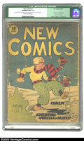 Golden Age (1938-1955):Humor, New Comics #1 (DC, 1935) CGC Qualified FR/GD 1.5 Cream to off-white pages. Offered here is an exceedingly rare comic, which ...