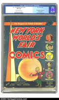 Golden Age (1938-1955):Superhero, New York World's Fair Comics #nn (1939 Edition) (DC, 1939) CGC VG+ 4.5 Cream to off-white pages. Here is a historical book w...