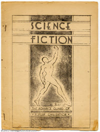 Science Fiction (Fanzine) Group Lot of #2-5 (Siegel and Shuster, 1933). Everyone knows that Superman was created in 1938...