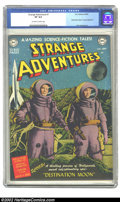 Golden Age (1938-1955):Science Fiction, Strange Adventures #1 (DC, 1950) CGC VF 8.0 Off-white to whitepages. This cover has always stood out in the minds of collec...