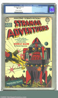 Golden Age (1938-1955):Science Fiction, Strange Adventures #3 (DC, 1950) CGC NM- 9.2 Off-white to whitepages. Here is an incredible copy of this extremely cool boo...