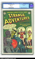 Golden Age (1938-1955):Science Fiction, Strange Adventures #14 Bethlehem pedigree (DC, 1951) CGC NM- 9.2Off-white pages. Captain Comet had made his debut in issue ...