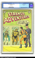 Golden Age (1938-1955):Science Fiction, Strange Adventures #34 Bethlehem pedigree (DC, 1953) CGC VF 8.0Cream to off-white pages. Murphy Anderson did the cover, one...