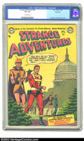 Golden Age (1938-1955):Science Fiction, Strange Adventures #38 Bethlehem pedigree (DC, 1953) CGC VF+ 8.5Off-white pages. Captain Comet was a feature of this title ...