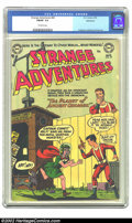 Golden Age (1938-1955):Science Fiction, Strange Adventures #42 Bethlehem pedigree (DC, 1954) CGC FN/VF 7.0Off-white pages. A rare humorous cover by Murphy Anderson...