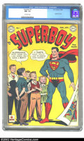 Golden Age (1938-1955):Superhero, Superboy #1 (DC, 1949) CGC NM- 9.2 Off-white pages. This excellent copy has received the highest grade yet given by CGC! Thi...