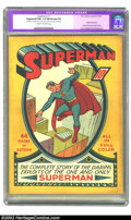 Golden Age (1938-1955):Superhero, Superman #1 (DC, 1939) CGC Apparent FN+ 6.5 Moderate (P) Cream to off-white pages. Arguably the second most important comic ...