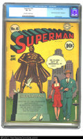Golden Age (1938-1955):Superhero, Superman #16 (DC, 1942) CGC VF- 7.5 Off-white to white pages. It's a nice day for a stroll in the park on this, the first, L...